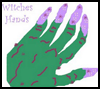 Halloween Witch Hands - a Hand Print Craft for Children