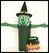 Witch Toilet Paper Roll Craft Project for Kids