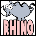 How to Draw Cartoon Rhinos