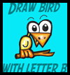 How to Draw Letter B Birds
