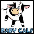 How to Draw Baby Cow Calf