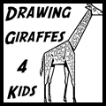 How to Draw Cartoon Giraffes