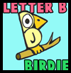 How to Draw Letter B Birdies