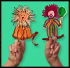 Fuzzy, Fun Lion Finger Puppets Craft