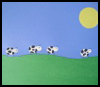 Cows in the Field Arts and Crafts Picture Creation Idea