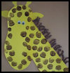 Giraffe Collage Crafts Activity for Preschoolers