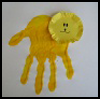 Hand Print Lion Arts and Crafts Activity for Preschoolers