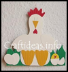 Hen Paper Decoration Crafts Idea for Kids