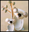 Seashell Koalas Crafts Idea