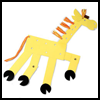 Lanky Giraffe Shadow Puppet Arts and Crafts Project for Kids