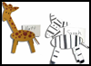 Animal Placecards Crafts Ideas / Giraffe Placecards Crafts