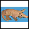 Armadillo Paper Model Craft for Kids