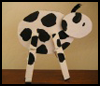 Clothes Pin Calf Arts and Crafts for Kids