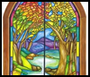 How    to Make Crayon Stained Glass Windows