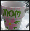 Painted Coffee Mug for Moms : Crafts Ideas with Tea Cups for Kids