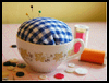 Vintage Teacup Pincushions : Crafts Ideas with Tea Cups for Kids