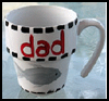 Painted Coffee Mug for Dads : Crafts with Coffee Mugs