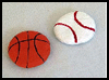 Salt   Dough Sports Magnets  : Crafts Activities with Salt for Children