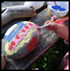 Kid's Art Craft: Painting Rocks for the Garden