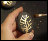 Cool Craft Project – Gold Leaf River Rocks