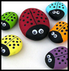 Ladybug Rocks : Stones and Pebbles Crafts Ideas for Children
