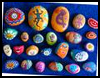Painted Rocks Paper Weights : Stones and Pebbles Crafts Ideas for Children