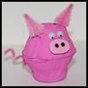 Egg Carton Pig Crafts Creation Ideas