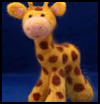 Felted Giraffe Stuffed Animal Making Crafts Project