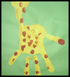 Giraffe Handprint Painting Keepsake Craft for Preschoolers