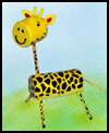 Foam Marshmallow Giraffe Craft Idea for Kids