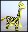 Folded Paper Giraffe Craft for Kids