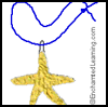 Glue Starfish Craft/Necklace Project for Children