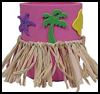 Luau   Can Coolers  : Hawaiin Crafts Ideas for Children
