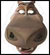 Madagascar 2: Gloria the hippo Mask