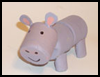 Foam Marshmallow Hippo Craft for Kids