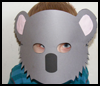 Koala Mask Printable Paper Crafts Idea for Kids