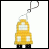 School   Bus Beadie Key Chains  : How to Make Keychains Crafts Ideas for Children
