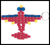 In 'Plane' Sight Key Chains : How to Make Keychains Crafts Ideas for Children