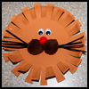 Lion's Face Paper Plate Crafts Project