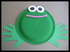 Paper Plate Bull Frog Arts and Crafts Activity Ideas