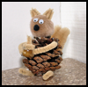 Pine Cone Squirrel Craft Idea for Children