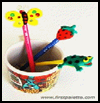Clay Pencil Pals  : Pens Crafts and Pencils Crafts for Kids