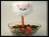 Kids   Craft: Fuzzy Bunny Pencil Topper
