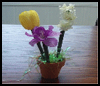 Pot   of Flower Pens  : Pen Crafts Activities for Kids