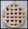 Lattice-Topped Fruit Pie Potholder