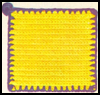 Your First Crochet Project – A Bright Yellow Potholder!