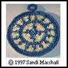 Southwestern Duo Potholder Patterns, Crocheted in the Round