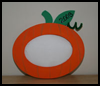 Pumpkin Picture Frames : Thanksgiving Crafts for Toddlers