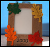 Fall Leaves Picture Frames : Thanksgiving Crafts for Preschoolers