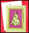 Crystal    Christmas Tree Cards  : How to Make Cool Stuff with Old Christmas Cards